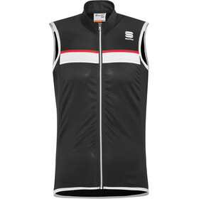 Sportful Pista Sleeveless Jersey Herren black/white-red